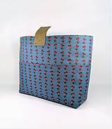Taštičky - Organizér do kabelky modrý s ružičkami     - 11272591_