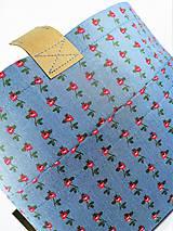 Taštičky - Organizér do kabelky modrý s ružičkami     - 11272593_