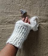 Rukavice - Zápästky nežné- ručne pradená angora zo zajačika - 11274218_
