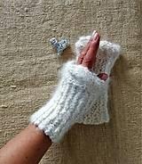 Rukavice - Zápästky nežné- ručne pradená angora zo zajačika - 11274221_