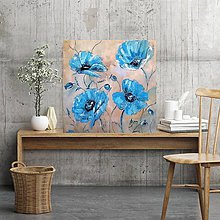 Obrazy - Modré  maky - 11273758_