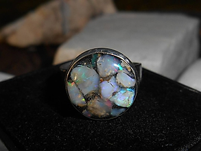 Prstene - colors of opals- - 11271675_
