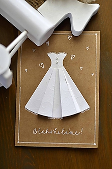 Papiernictvo - Svadobné šaty - hnedá - 11272032_