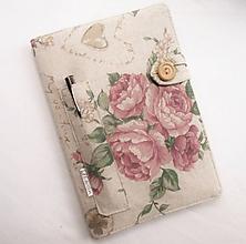Papiernictvo - Zápisník A5 - Romantické ruže - 11273496_