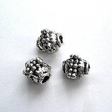 Korálky - Kovová korálka 8mm-1ks - 11271669_