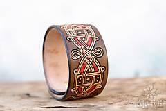 Náramky - Kožený náramok Ornament - 11273108_