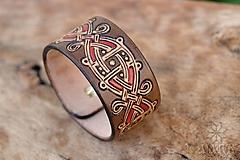 Náramky - Kožený náramok Ornament - 11273109_