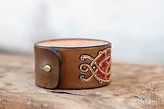 Náramky - Kožený náramok Ornament - 11273120_