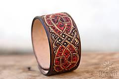 Náramky - Kožený náramok Ornament - 11273121_