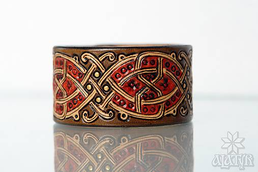 Kožený náramok Ornament