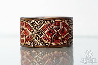 Náramky - Kožený náramok Ornament - 11273122_