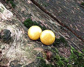 Náušnice - Krúžky 12 mm (žltá) - 11274470_