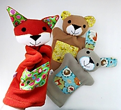 Hračky - Kamaráti z lesa - sada maňušiek na ruku - 11273362_
