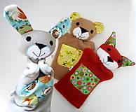 Hračky - Kamaráti z lesa - sada maňušiek na ruku - 11273363_