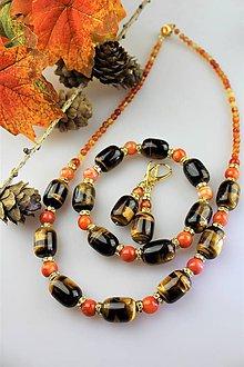 Sady šperkov - tigrie oko s achátom a karneolom súprava - 11274574_