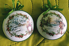 Dekorácie - Vianočné medailóny - Zimná krajina II. - 11272998_