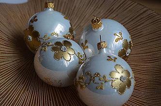 Dekorácie - Luxusná bielo-zlatá sada - 11273979_