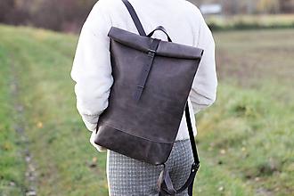 Batohy - kožený batoh_ - 11273540_