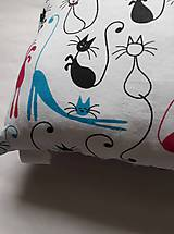 Textil - Vankúšik - mini - mačky - 11273632_