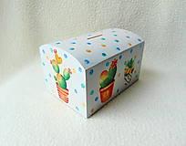 Krabičky - Drevená pokladnička Kaktusy - 11272537_