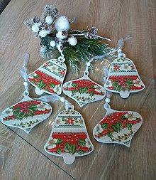 Dekorácie - Vianoce - Sada 6 ks vianočných ozdôb - 11273862_