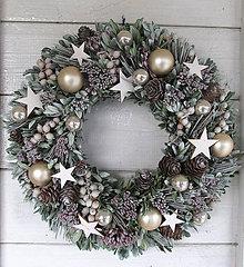 Dekorácie - Vianočný veniec prírodný - 11273144_