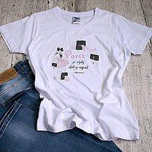 Tričká - Dámske tričko Paríž - 11274248_