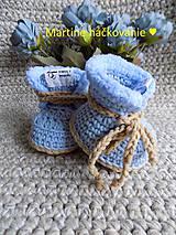 Topánočky - papučky pre bábätko ♥ - 11272576_