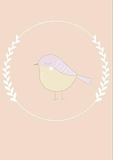 """Grafika - Ilustrácia zo zvieratkovej kolekcie """" Vtáčik """" - 11274321_"""