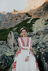 Šaty - ivory madeirové dlhé šaty  Poľana - 11272162_