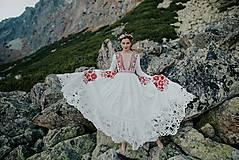 Šaty - ivory madeirové dlhé šaty  Poľana - 11272163_