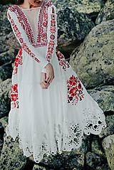 Šaty - ivory madeirové dlhé šaty  Poľana - 11272164_