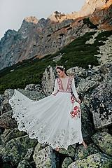 Šaty - ivory madeirové dlhé šaty  Poľana - 11272165_