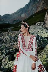 Šaty - ivory madeirové dlhé šaty  Poľana - 11272167_
