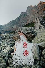 Šaty - ivory madeirové dlhé šaty  Poľana - 11272168_