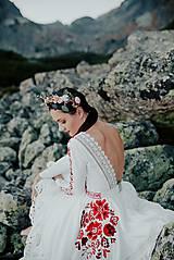 Šaty - ivory madeirové dlhé šaty  Poľana - 11272169_
