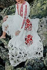 Šaty - ivory madeirové dlhé šaty  Poľana - 11272170_