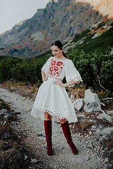 Šaty - madeirové midi šaty Poľana - 11272084_