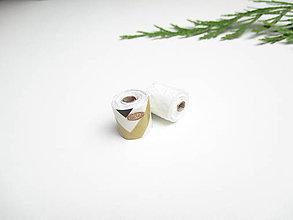 Hračky - Mini toaletný papier (pre Barbie) (Zlato bielo čierny) - 11274198_