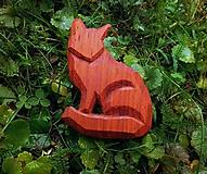 Odznaky/Brošne - Drevená brošňa líška - 11273455_