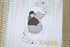 Papiernictvo - Detský fotoalbum (dievčatko a macko) - 11274773_