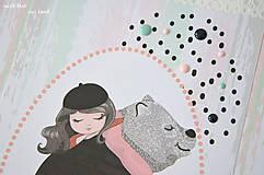 Papiernictvo - Detský fotoalbum (dievčatko a macko) - 11274775_