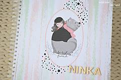 Papiernictvo - Detský fotoalbum (dievčatko a macko) - 11274776_