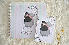 Papiernictvo - Detský fotoalbum (dievčatko a macko) - 11274779_
