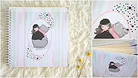 Papiernictvo - Detský fotoalbum (dievčatko a macko) - 11274780_