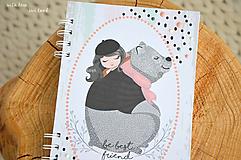 Papiernictvo - Zápisník pre dievčatko - 11274788_