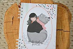 Papiernictvo - Zápisník pre dievčatko - 11274790_