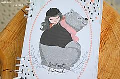Papiernictvo - Zápisník pre dievčatko - 11274791_