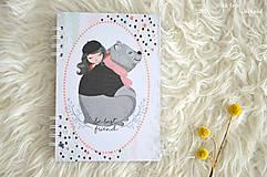 Papiernictvo - Zápisník pre dievčatko - 11274793_