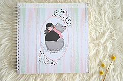 Papiernictvo - Detský fotoalbum (dievčatko a macko) - 11274797_